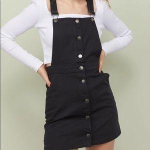 H&M Black Overall Dress